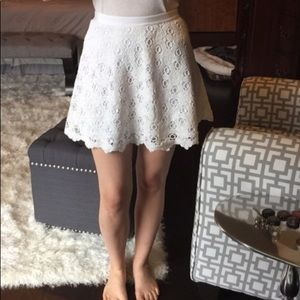 White eyelet Club Monaco Skirt!